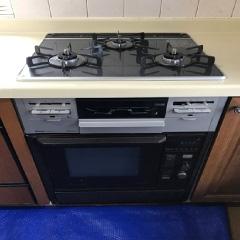 ガスコンロの全体画像オーブン